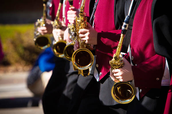Photograph - Marching Band Saxophones  by James BO Insogna