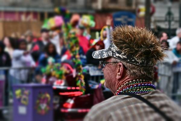 Photograph - Mardi Gras Man by Jim Albritton