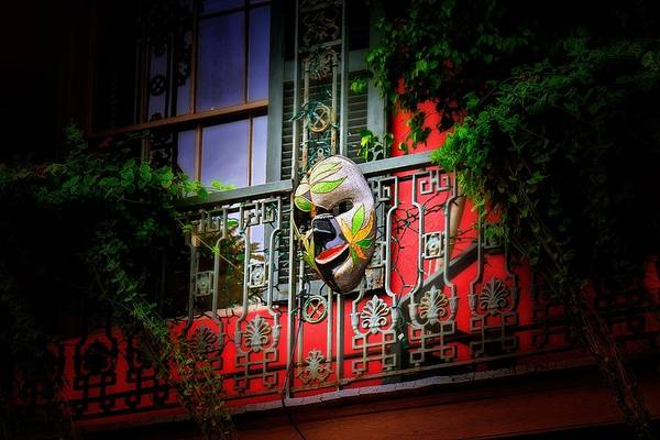 Photograph - Mardi Gras Mask by Jim Albritton