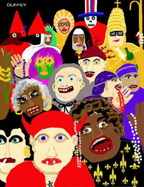 Mardi Gras New Orleans Art Print