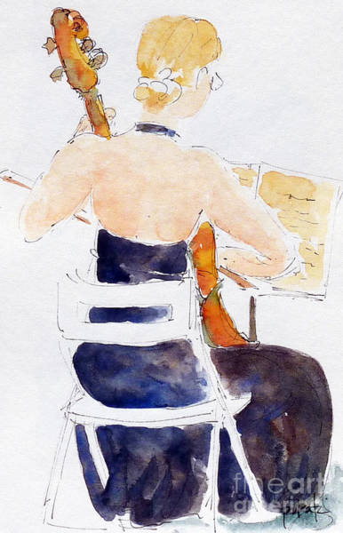 Painting - Margarethe On Cello by Pat Katz