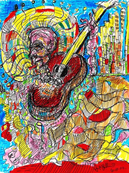 Mariachi Drawing - Mariachi by Jon Baldwin  Art