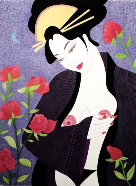 Geisha Mixed Media - Mariko by Dulcie Dee