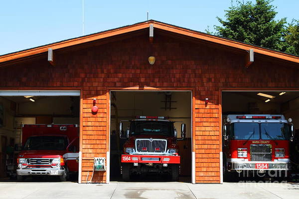 Photograph - Marin County Fire Department . Point Reyes California . 7d15920 by Wingsdomain Art and Photography