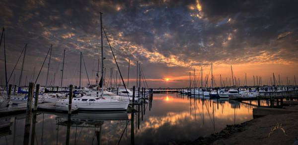 Photograph - Marina At Fort Monroe by Williams-Cairns Photography LLC