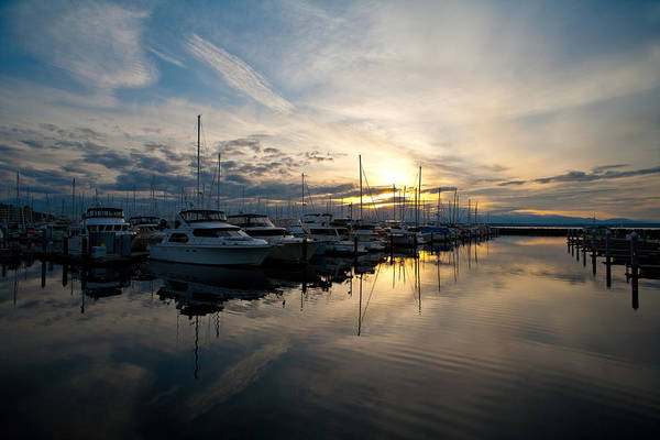 Puget Sound Photograph - Marina Evening by Mike Reid