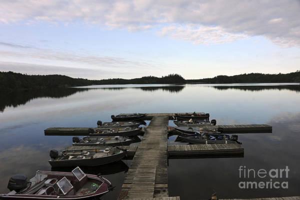 Photograph - Marina Northern Lake Canada by Dan Friend
