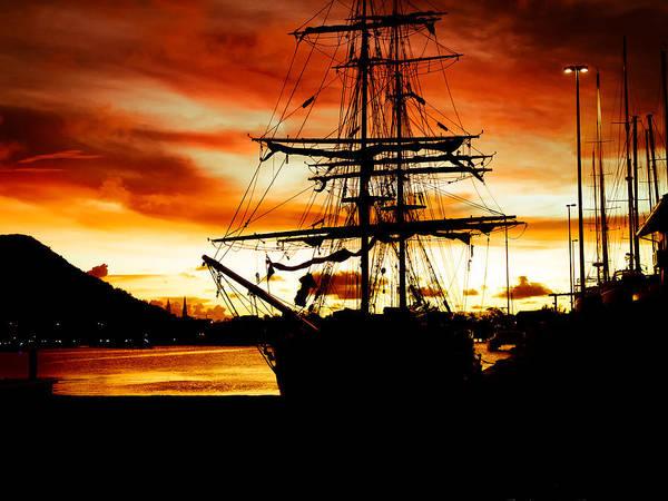 Photograph - Marina Sunset by Daniel Marcion