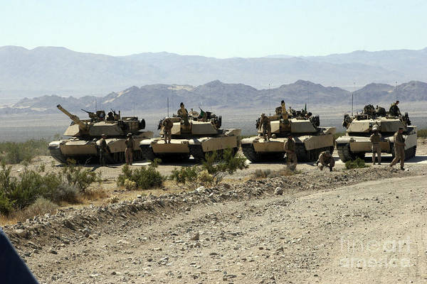 Photograph - Marines Gather Around Their Respective by Stocktrek Images
