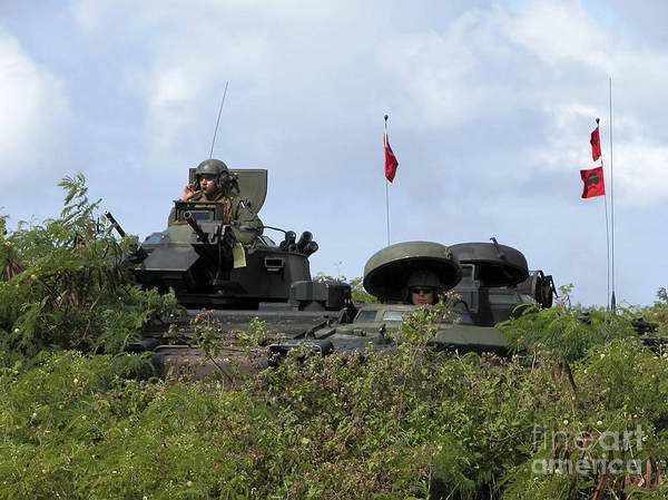Aav Photograph - Marines Provide Security by Stocktrek Images