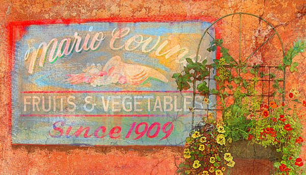 Italian Immigrants Wall Art - Photograph - Mario Covings Fruits And Vegs 1909 by Jeff Burgess