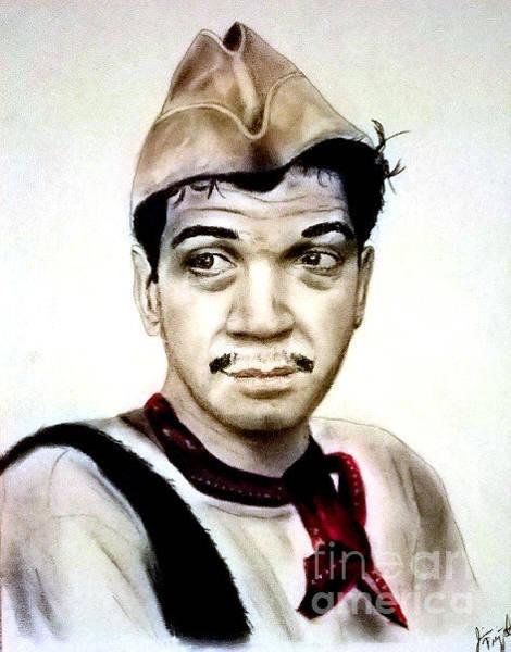 Wall Art - Pastel - Mario Moreno As Cantinflas In El Bombero Atomico  by Jim Fitzpatrick