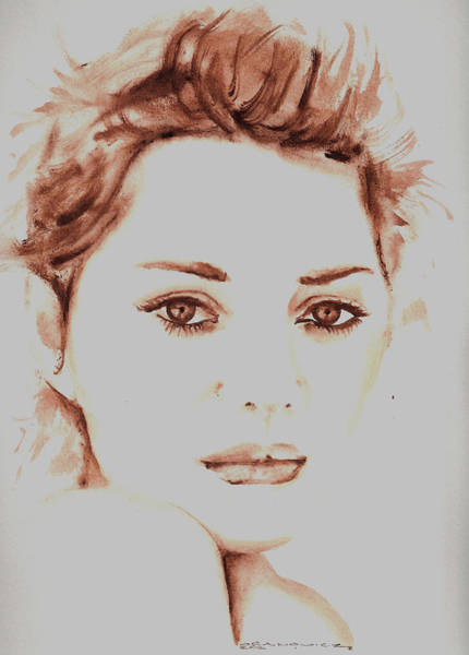 Marion Cotillard Wall Art - Painting - Marion  by Karl Opanowicz