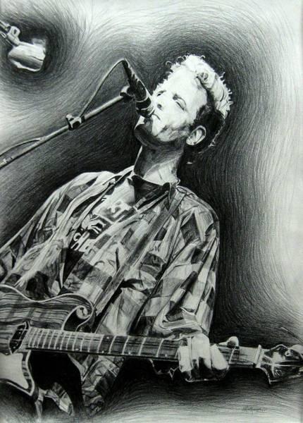 Sax Drawing - Mark Sandman by Michael Morgan