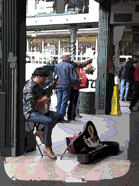 Busker Wall Art - Digital Art - Market Busker 2 by Tim Allen