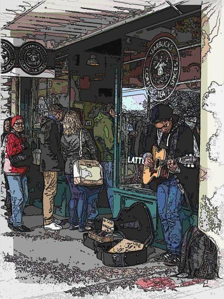 Busker Wall Art - Digital Art - Market Busker 3 by Tim Allen