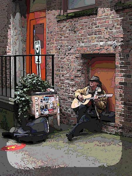 Busker Wall Art - Digital Art - Market Busker 4 by Tim Allen