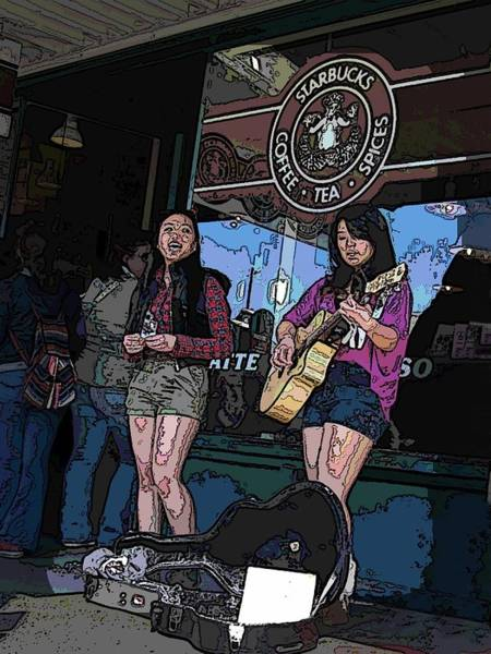 Busker Wall Art - Digital Art - Market Buskers by Tim Allen