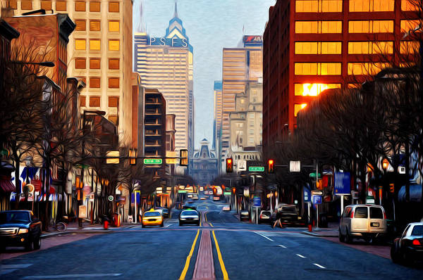 Photograph - Market Street In The Morning by Bill Cannon