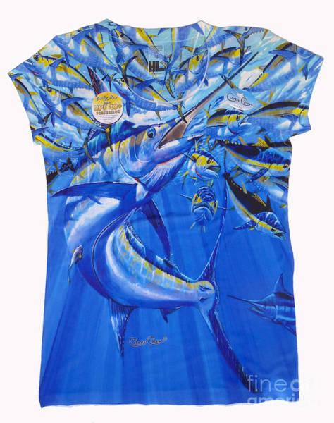 Chen Digital Art - Marlin Ladies Shirt by Carey Chen