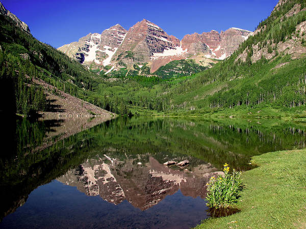 Maroon Bells Shoreline Art Print