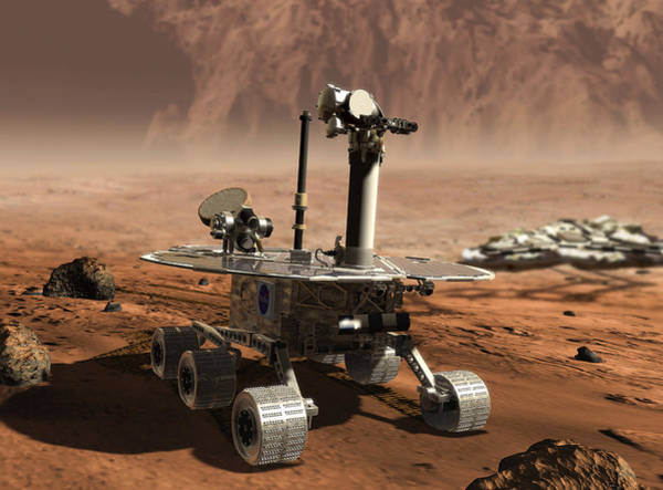 Jet Propulsion Laboratory Photograph - Mars Opportunity Rover by Nasa