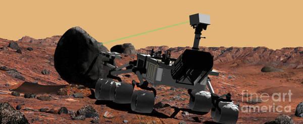 Digital Art - Mars Science Laboratory by Stocktrek Images
