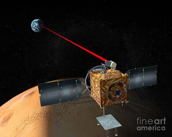 Digital Art - Mars Telecommunications Orbiter by Stocktrek Images