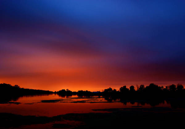 Lake Sunset Photograph - Marsh Sunset by Cale Best