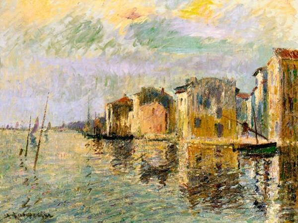 Southern France Painting - Martigues In The South Of France by Gustave Loiseau