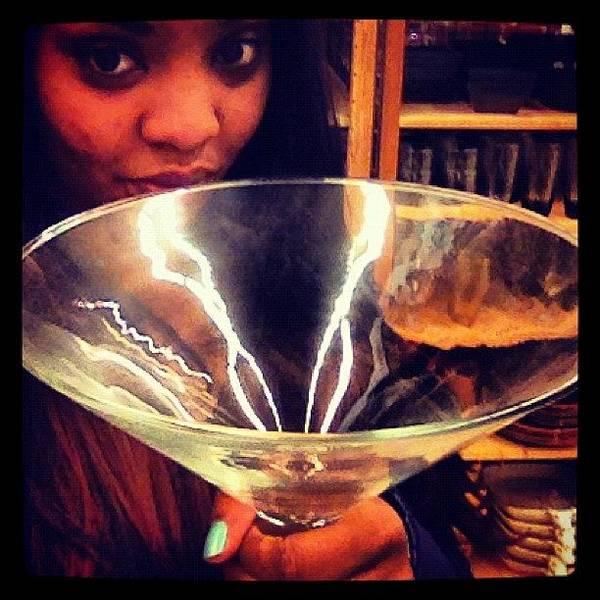 Martini Wall Art - Photograph - #martini #glass #huge #birthdaygirl by Tadela Wallace