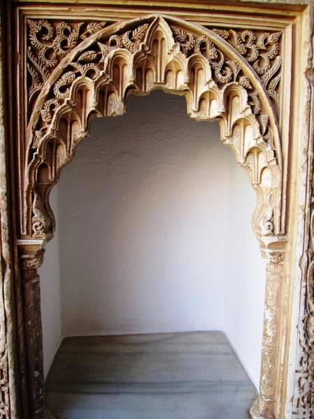 Photograph - Marvelous Hand Carved Arabic Design Moulding Wall Decor Granada Spain by John Shiron