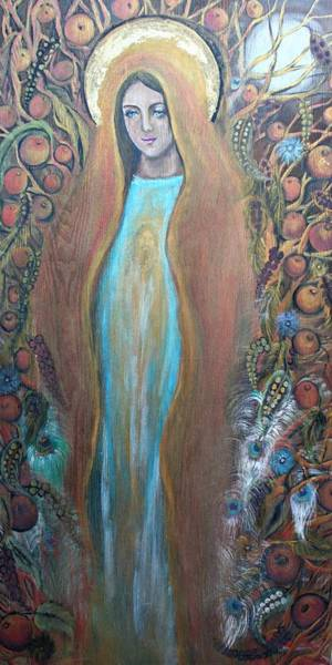 Spiritual Growth Painting - Mary Magdalene And The Tree Of Life by Alma Yamazaki