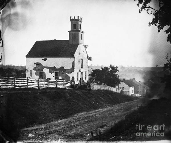 Sharpsburg Photograph - Maryland: Church, 1862 by Granger