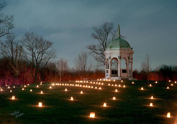 Luminaries Photograph - Maryland Monument 3 - 11 by Judi Quelland