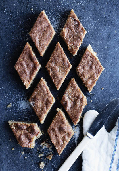 Vertical Line Photograph - Marzipan And Almond Cake Pieces by Cultura/Line Klein