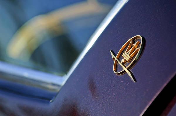 Photograph - Maserati Ghibli Ss Emblem by Jill Reger