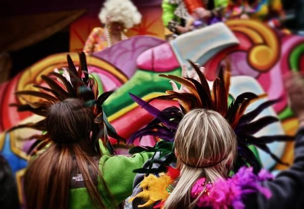 Photograph - Masked Mardi Gras Women by Jim Albritton