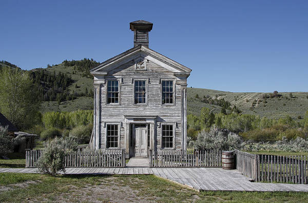 Pioneer School Photograph - Masonic Temple 3 - Bannack Montana by Daniel Hagerman