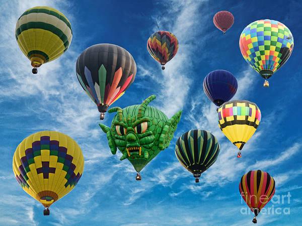 Fair Ground Photograph - Mass Hot Air Balloon Launch by Paul Ward