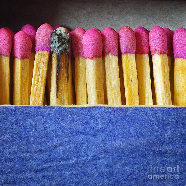 Flammable Photograph - Matchbox by Carlos Caetano