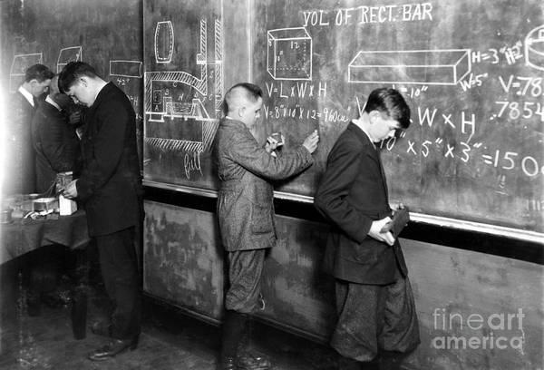 Photograph - Mathematics Class, 1916 by Granger