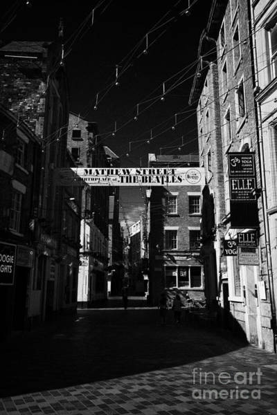 Mathew Photograph - Mathew Street In Liverpool City Centre Birthplace Of The Beatles Merseyside England Uk by Joe Fox