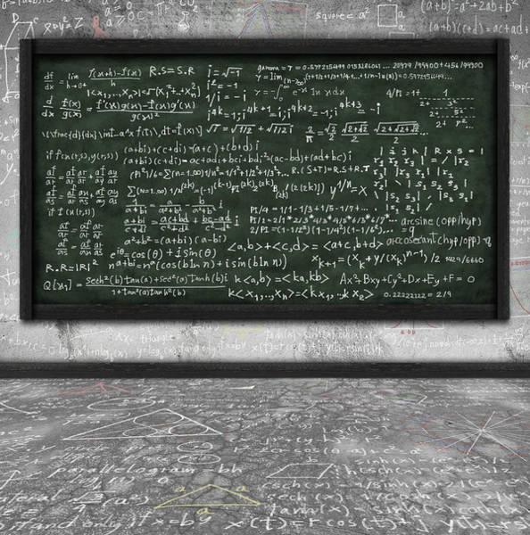 Intelligent Photograph - Maths Formula On Chalkboard by Setsiri Silapasuwanchai