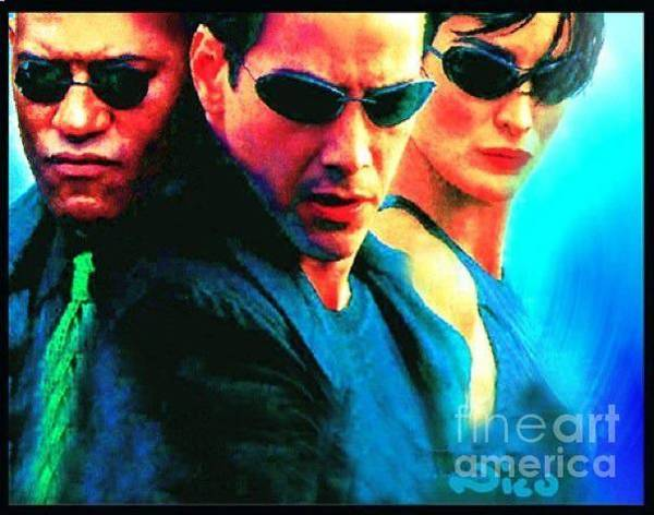 Special Offer Painting - Matrix Reeves by Nicholas Nixo