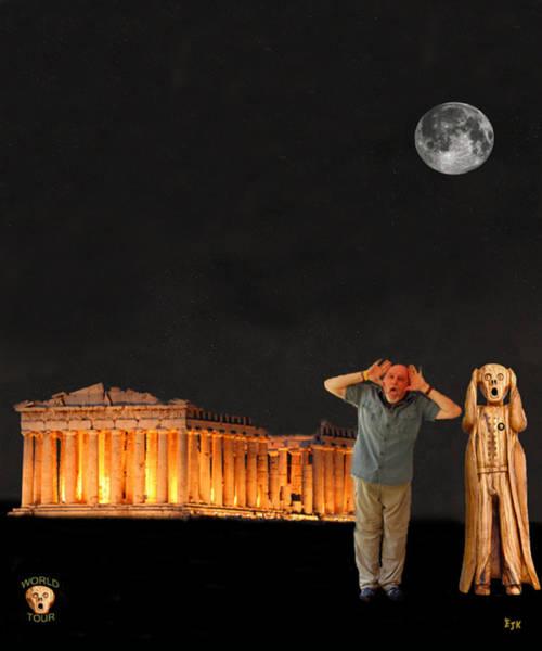 Mixed Media - Matt Hovler Screams Athens by Eric Kempson