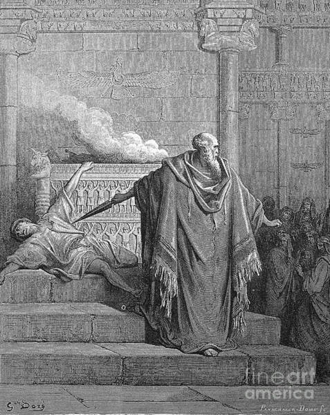 B B King Drawing - Mattathias And The Apostate by Gustave Dore
