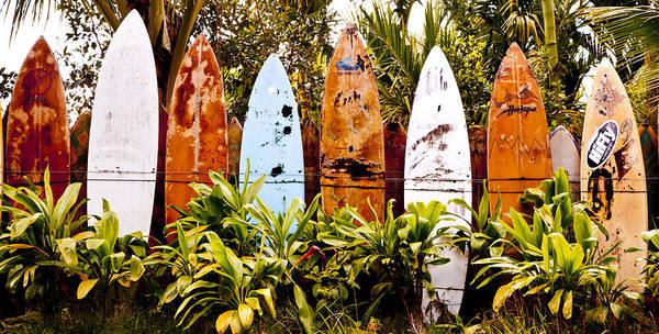 Surfboard Fence Photograph - Maui Surfboard Fence1 by Rosanne Nitti