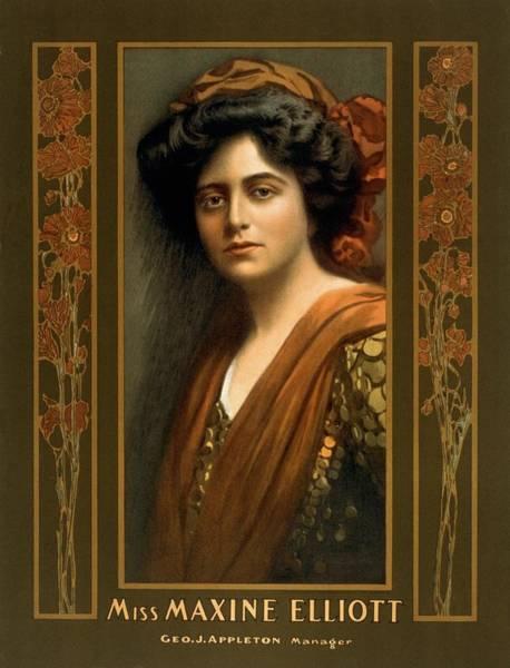 Mistress Photograph - Maxine Elliott 1868-1940 An Actress by Everett