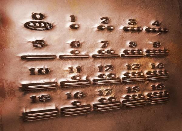 Written Language Photograph - Maya Numerals, Artwork by Victor Habbick Visions